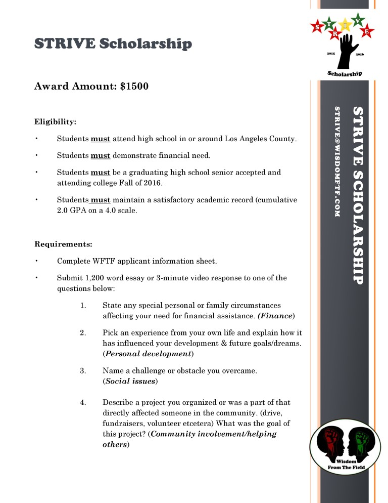 scholarship essay future plan Essays - largest database of quality sample essays and research papers on study plan for my study plan my distinguish college of engineering in france: i'm glad that i've such a determination the charlie bell scholarship for future leaders 2013 application form information in recognition of.