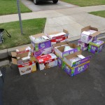 The day began with boxes of diapers and a mission