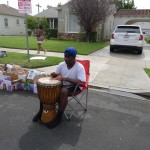 Young King wouldn't let the djembe go! #NaturalRhythm